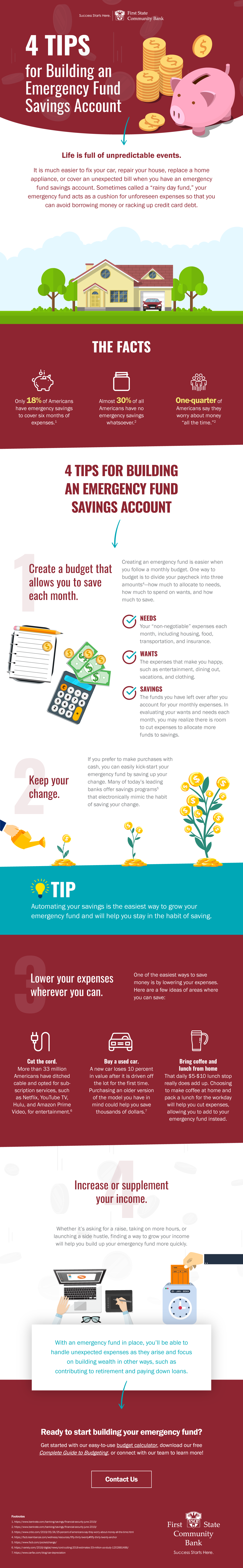 Infographic: 4 Tips for Building an Emergency Fund